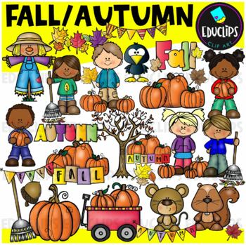 Fall Clip Art Bundle (Educlips Clipart)