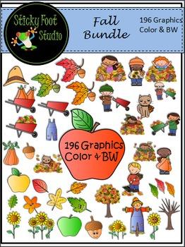Fall Clip Art Bundle (196 graphics)