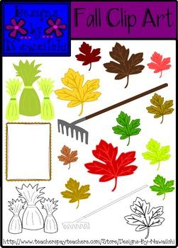 Fall Clip Art {Designs By Nawailohi}