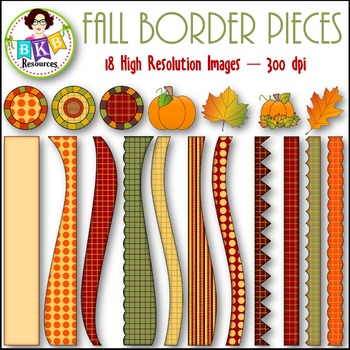 Fall Clip Art - Fall Border Pieces