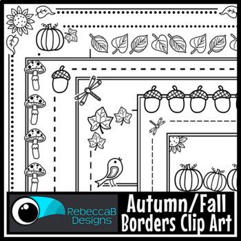 Fall Clip Art: Fall Borders, Autumn Borders, Autumn Clip Art