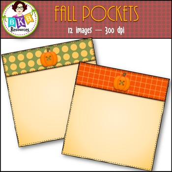 Fall Clip Art ● Fall Pockets● Commercial Use