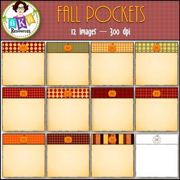 Fall Clip Art - Fall Pockets