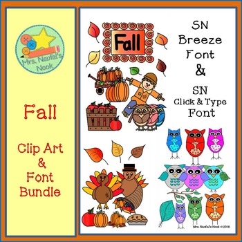Fall Clip Art and Font Bundle