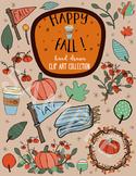Fall Clip Art, Hand drawn Clipart
