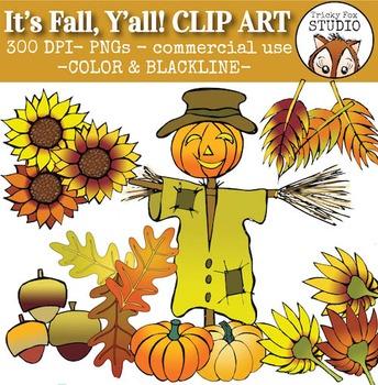 Fall Clip Art (It's Fall, Y'all)