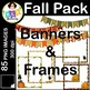 Fall Pack ● Fall Clip Art ● Commercial Use