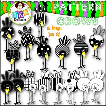 Fall Clip Art - Pattern Crows