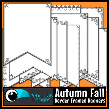Fall Pennant Doodle Borders