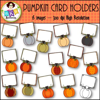 Fall Clip Art - Pumpkin Card Holders