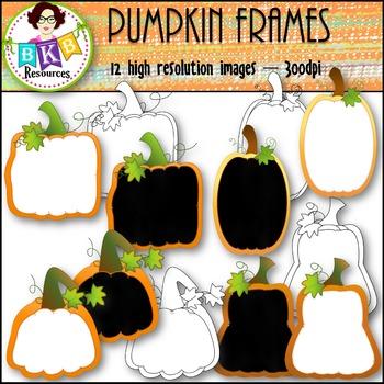 Fall Clip Art - Pumpkin Frames