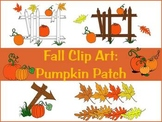 Fall Clip Art: Pumpkin patch