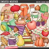 "Fall Clip Art: ""Sweater Weather"""