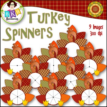 Fall Clip Art - Turkey Spinner FREEBIE!