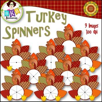 Fall Clip Art - Turkey Spinner FREEBIE!