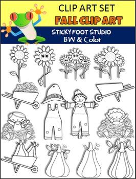 Fall Clip Art Variety Set