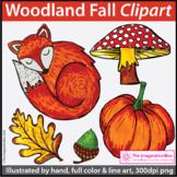 NEW 50% off! Fall Clip Art | Woodland Theme