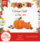 Fall Clip Art for Floral Autumn Decor, Thanksgiving day, Halloween, Baby Shower