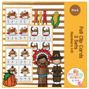 Fall Clip Cards - 3 Sets