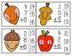 Fall Clip Cards - 3 addend addition Make a 10