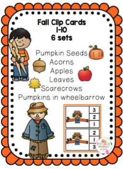Fall Clip Cards -Numbers 1-10 (6 sets)