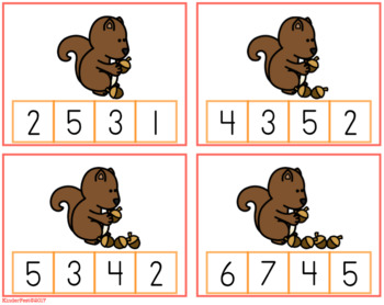 Fall Clip Cards for Counting and Number Identification