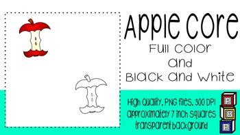 Fall Clipart: Apple Core
