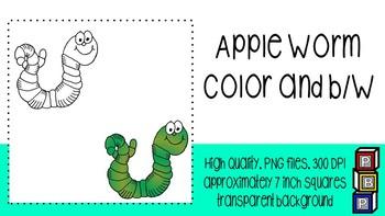 Fall Clipart: Apple Worm