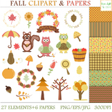 Fall Clipart / Autumn Clipart / Fall Clipart Graphics and