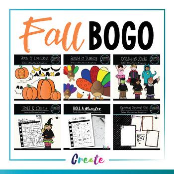 Fall Clipart Bogo Sale