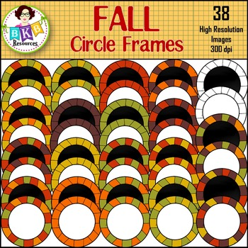 Fall Clipart ● Circle Frames ● Graphics ● Products for TpT Sellers