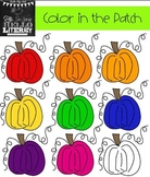 "Fall Pumpkin Clipart ""Color in the Patch"" (for personal and commercial use)"