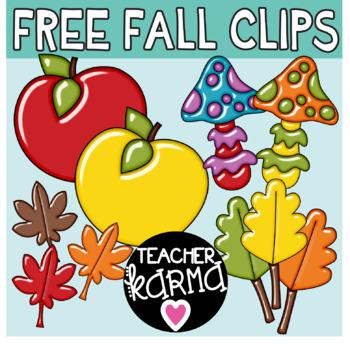 Fall Clipart FREEBIE, Apple Graphics