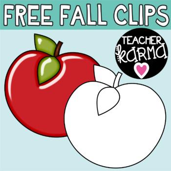 fall clipart freebie apple graphics by teacher karma tpt