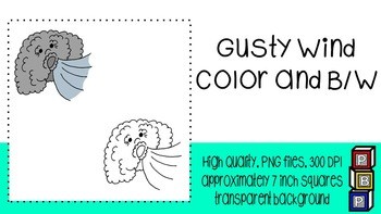 Fall Clipart: Gusty Wind