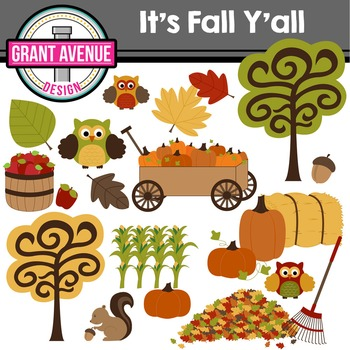 Fall Clipart - It's Fall Y'all!