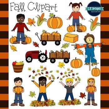 Fall Clipart {L.E. Designs}