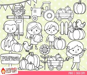 Pumpkin Patch Fall Clip Art