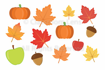 Fall Clipart Set