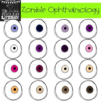 "Fall Eyeball Clipart ""Zombie Ophthalmology"" (for personal and commercial use)"