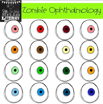 """Fall Eyeball Clipart """"Zombie Ophthalmology"""" (for personal"""