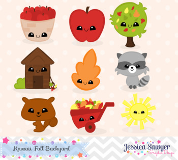 Fall Clipart with Faces