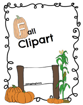 Fall Clipart with Pumpkins
