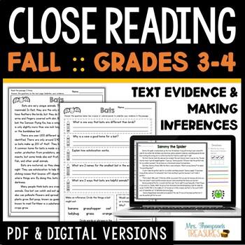 Reading Comprehension - October, November, December