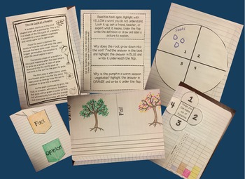 Fall Close Reading - Interactive Notebook