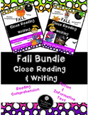 Fall Close Reading Skills Fiction and Informative Text 2nd & 3rd Grade
