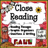 Fall Close Reading Unit {Reading, Questions, Graphic Organizers)