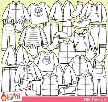Fall Clothes Clip Art