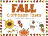 Fall Clothespin Tasks
