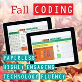 Fall Coding Digital Interactive Activities